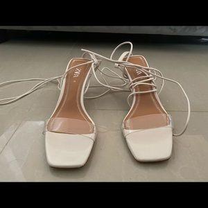 Zara strap heels